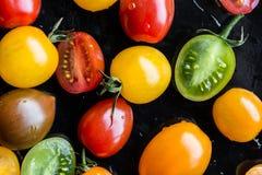 Mehrfarbige Tomaten stockfoto