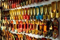 Mehrfarbige traditionelle indische Schuhe Stockbild