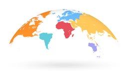 Mehrfarbige Vektor-Kugel-Karte lizenzfreie abbildung