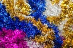 Mehrfarbige Weihnachtsdekorationen für die Dekoration für das neue Jahr Lizenzfreies Stockbild