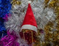 Mehrfarbige Weihnachtsdekorationen für die Dekoration für das neue Jahr Stockbild