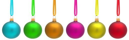 Mehrfarbige Weihnachtskugel Lizenzfreie Stockfotos