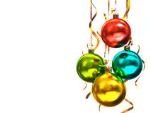 Mehrfarbige Weihnachtskugeln Stockbild
