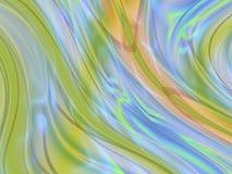 Mehrfarbige wellenförmige Kurven (1) stock abbildung