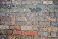Mehrfarbige Ziegelsteinzusammenfassungs-Hintergrundbeschaffenheit Lizenzfreies Stockfoto