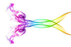 Mehrfarbiger abstrakter Rauch Stockbilder