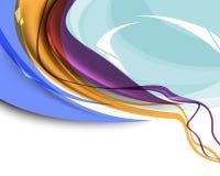 Mehrfarbiger abstrakter Wellenschablonenhintergrund Lizenzfreie Stockfotos