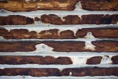 Mehrfarbiger alter hölzerner Plankenhintergrund Vertikale Streifen Stockbilder