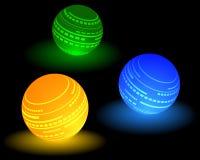 Mehrfarbiger Ball drei Vektor Abbildung