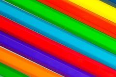 Mehrfarbiger Bleistift-Hintergrund Stockbild