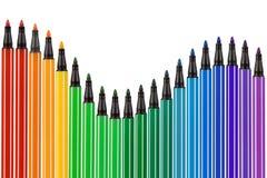 Mehrfarbiger Bleistiftrand Lizenzfreies Stockbild