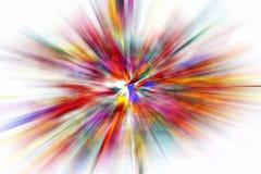 Mehrfarbiger Blitz entziehen Sie Hintergrund Foto mit grellem Effekt stockfoto