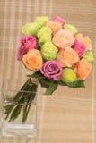 Mehrfarbiger Blumenstrauß Rose Lizenzfreie Stockfotografie