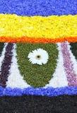 Mehrfarbiger Blumenteppich Lizenzfreie Stockbilder