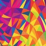 Mehrfarbiger Dreieckhintergrund. Stockfotografie