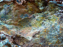 Mehrfarbiger Felsen Stockfotografie