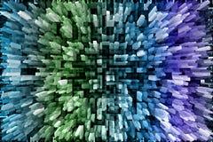 Mehrfarbiger gefrorener kopierter Fantasiehintergrund lizenzfreie abbildung