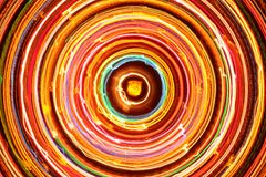 Mehrfarbiger glühender elektrischer Kreis Stockbild
