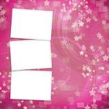 Mehrfarbiger Hintergrund für Einladungen mit Feldern vektor abbildung