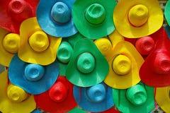 Mehrfarbiger Hut stockfotografie
