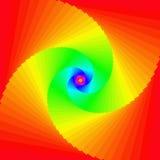 Mehrfarbiger hypnotischer Hintergrund stock abbildung