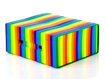 Mehrfarbiger Kasten Stockbilder