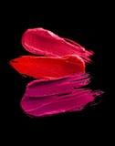 Mehrfarbiger Lippenstiftfleck Lizenzfreies Stockbild