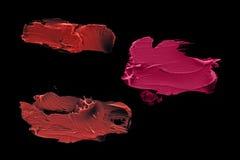 Mehrfarbiger Lippenstiftfleck Lizenzfreies Stockfoto