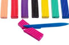 Mehrfarbiger Plasticine Stockfoto