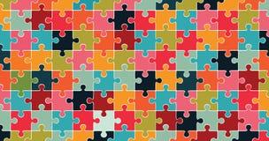 Mehrfarbiger Puzzlehintergrund Lizenzfreies Stockfoto
