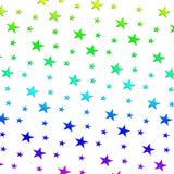 Mehrfarbiger Raster Sternchen-Vereinbarung der Illustration Lizenzfreies Stockfoto