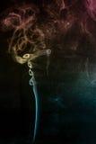 Mehrfarbiger Rauch Stockfoto