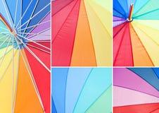 Mehrfarbiger Regenschirm Stockbild