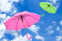 Mehrfarbiger Regenschirm Stockbilder