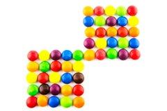 Mehrfarbiger Süßigkeitshintergrund lizenzfreie stockfotos