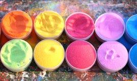 Mehrfarbiger Sand Stockfotografie