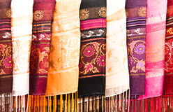 Mehrfarbiger Schal. Lizenzfreies Stockfoto