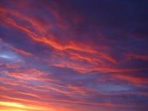 Mehrfarbiger Sonnenaufgang des frühen Morgens Stockfotos