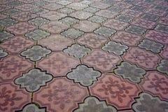 Mehrfarbiger Stein, der Beschaffenheit pflastert Extrahieren Sie strukturierten Hintergrund des modernen Straßenpflasterungs-Plat lizenzfreies stockfoto
