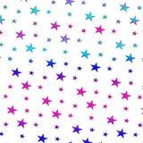 Mehrfarbiger Sternchen-Vereinbarung Rasterhintergrund Lizenzfreies Stockfoto