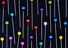 Mehrfarbiger Stifthintergrund Stockbilder
