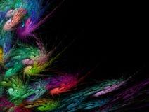 Mehrfarbiger Strudel und Spiralen Fractalhintergrund Modernes futuristisches dynamisches Biomuster vektor abbildung