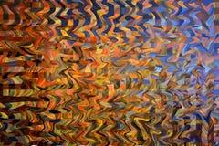 Mehrfarbiger vibrierender quadratischer und gestreifter Hintergrund Stockbilder