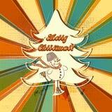 Mehrfarbiger Weihnachtshintergrund gestreift und Schmutz in Retro- St. Lizenzfreies Stockfoto