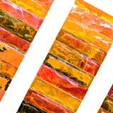 Mehrfarbiger Ziegelsteinhintergrund Stockfoto