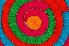 Mehrfarbiges Acrylgarn als Hintergrund Stockbild