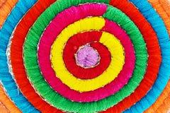 Mehrfarbiges Acrylgarn als Hintergrund Lizenzfreies Stockfoto