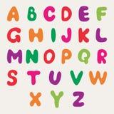 Mehrfarbiges Alphabet stock abbildung
