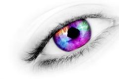 Mehrfarbiges Auge Lizenzfreie Stockbilder