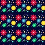 Mehrfarbiges Blumenmuster Stockbild